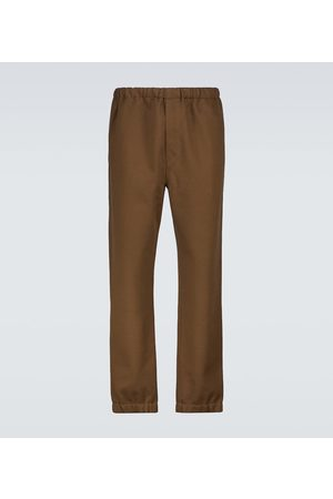 LEMAIRE Cotton and wool fleece sweatpants