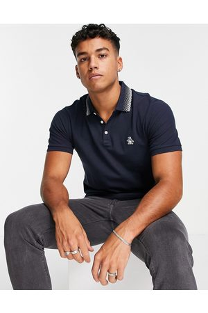 Original Penguin Knitted polo in navy
