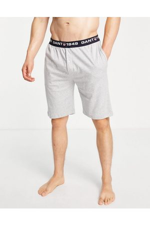 GANT Lounge shorts in grey with contrast logo waistband