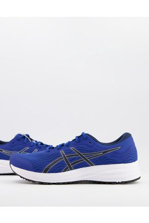 Asics Running Patriot 12 trainers in blue and black
