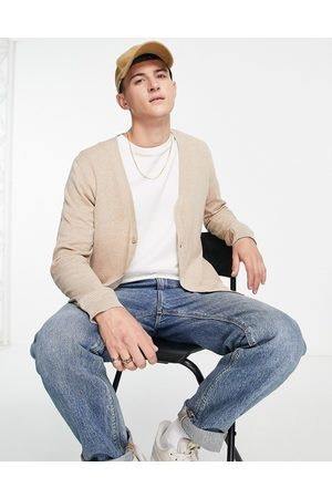 Topman Knitted cardigan in stone-Neutral