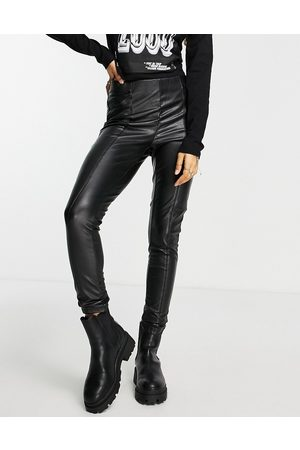ONLY Faux leather leggings in black