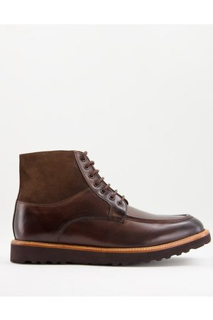 Base London Colter lace up boots in brown leather