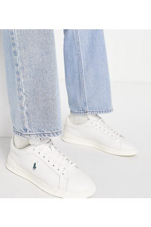 Polo Ralph Lauren X ASOS exclusive collab court trainer in cream with pony logo-White