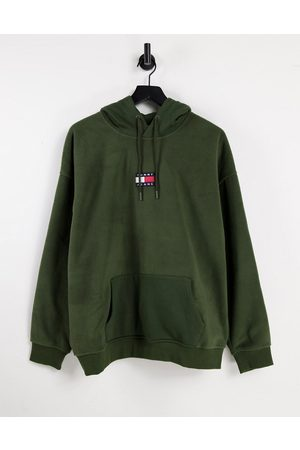 Tommy Hilfiger Badge polar fleece hoodie relaxed fit in green