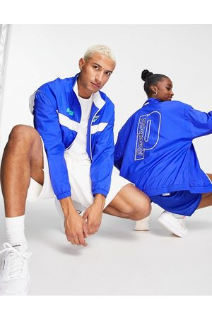 Reebok X Prince unisex retro track jacket in cobalt blue and white