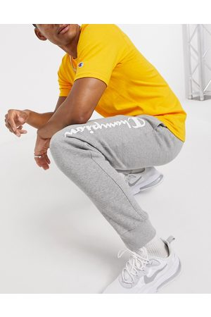 Champion Large logo tracksuit bottoms in grey